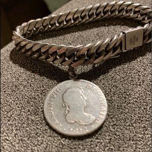 Jewelry - Sterling coin bracelet